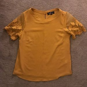 Lulu's Mustard Lace Top